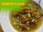 vegane Gemüsesuppe mit Eistich