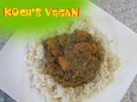 veganes Möhrencurry mit Sesam - Kokosreis