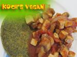vegane Linsenmaisfladen mit Tofupilzsalsa