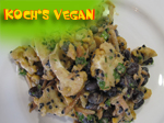 veganer Blumenkohl Bohnensalat