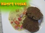 vegane Tofubouletten mit Sahnesauce